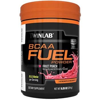 TWINLAB BCAA Fuel Powder, 0.5lbs 30 Servings-0