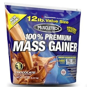 MuscleTech 100 % Premium Mass Gainer, 12lbs-0