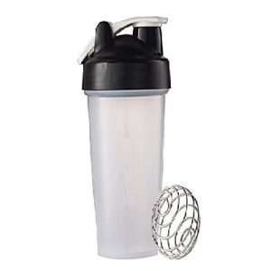 Shaker Bottle with Blender Mixing Wire Whisk Ball -0