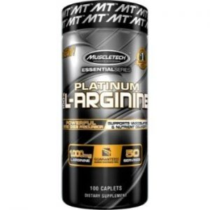 MuscleTech Platinum 100% L-Arginine, 100 Caplets-0