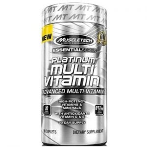 MuscleTech Platinum Multivitamin, Unflavoured 90 Caplets-0