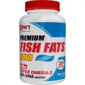 SAN Premium Fish Fats Gold, 120 softgels-0