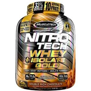 MuscleTech Nitrotech Whey Plus Isolate Gold, 4 lb -0