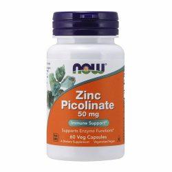 Now Zinc Picolinate 50 mg 60 Veg caps