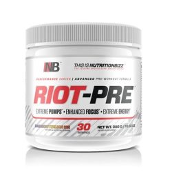 NutritionBizz Riot Pre Workout, 30 Serving (Rainbow Italian Ice)