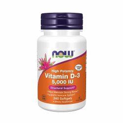 Now Vitamin D3 5000 Iu 240 Softgels
